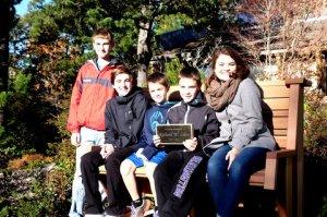 luce bench and grandchildren