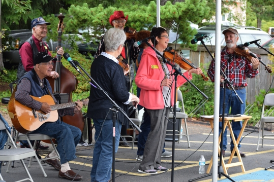 Old Time Fiddlers at community celebration
