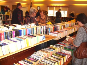 Books are far as you can see at the annual Friends Memorial weekend sale