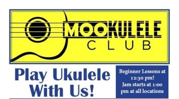 Mookulele Summer 2019 schedule